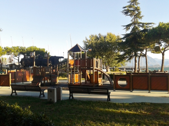 children playground, and lake!, just outside your door